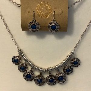 NWT Ruby Rd. Statement necklace and earrings.